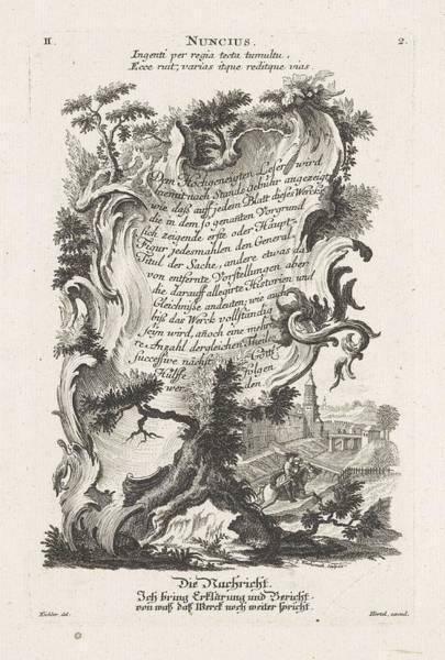 Wall Art - Painting - De Boodschap, Jeremias Wachsmuth, After Gottfried Eichler II, C. 1758 - C. 1775 by Gottfried Eichler II