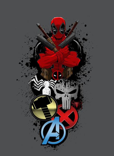 Wall Art - Digital Art - Deadpool 5 by Geek N Rock