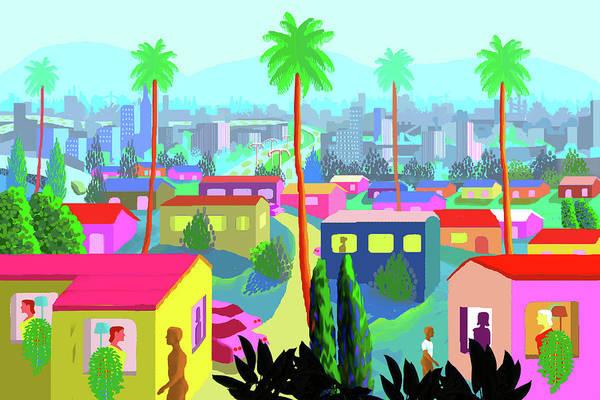 Outdoors Digital Art - Dear California by Charles Harker
