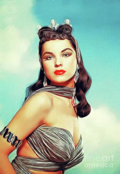 Wall Art - Painting - Debra Paget, Vintage Actress by John Springfield