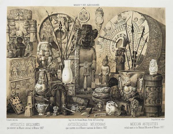 Wall Art - Painting -  Decaen, Joseph Antoine  Mort In 1866  Mexico And Its Surroundings. Collection Of Monuments, Costum by Celestial Images