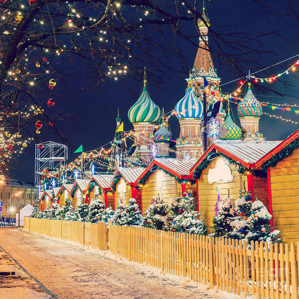 New Years Day Photograph - Decorations For New Year And Holidays by Mikhail Starodubov