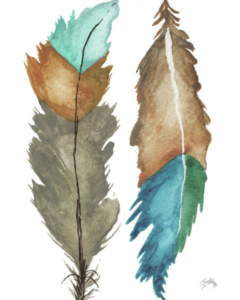 Wall Art - Painting - Decorative Feathers by Elizabeth Medley