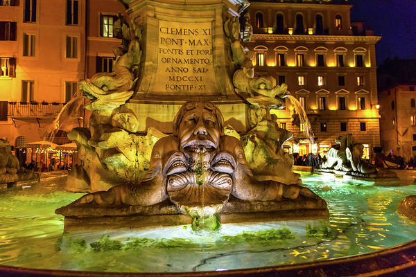 Wall Art - Photograph - Della Porta Fountain, Piazza Della by William Perry