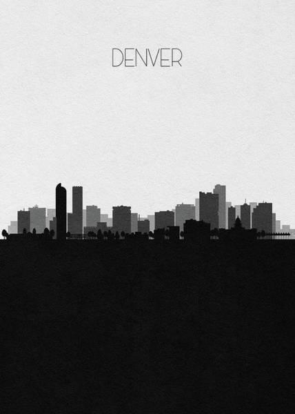 Digital Art - Denver Cityscape Art V2 by Inspirowl Design