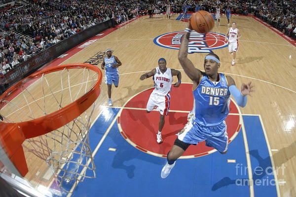 Photograph - Denver Nuggets V Detroit Pistons by Allen Einstein