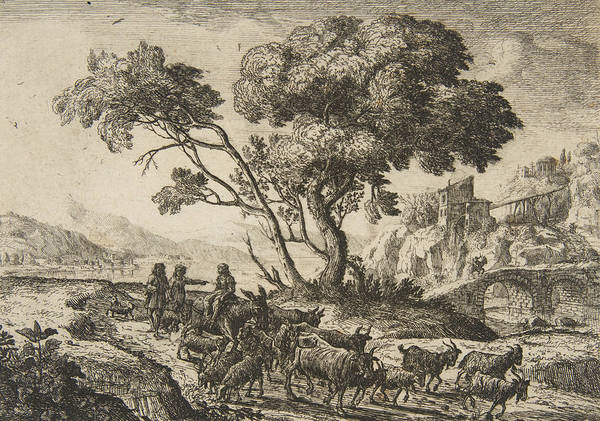 Relief - Departure For The Fields by Claude Lorrain