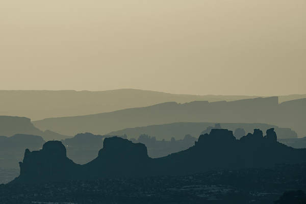 Photograph - Desert Mountain Layers - Sepia Minimalism by Gregory Ballos