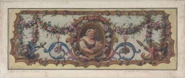 Scandinavian Style Painting - Design For A Stage Set At The Opera, Paris Eugene Ciceri French, Paris 1813-1890 Fontainebleau by Eugene Ciceri