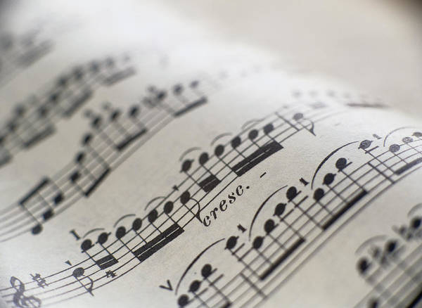 Indoors Photograph - Detail Of Sheet Music by Ryan Mcvay