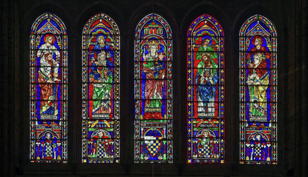 Biblical Photograph - Details Of Stained Glass, The South by Panoramic Images