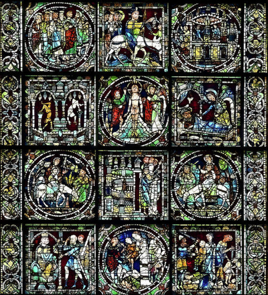 Biblical Photograph - Details Of Stained Glass, The West by Panoramic Images