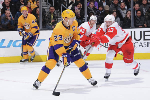 Los Angeles Kings Photograph - Detroit Red Wings V Los Angeles Kings by Juan Ocampo