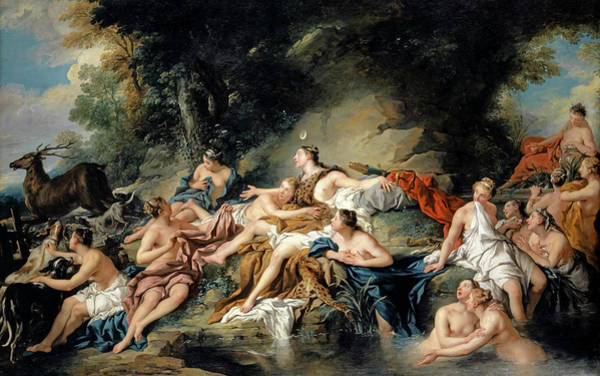 Wall Art - Painting - Diana And Actaeon by Jean-Francois de Troy