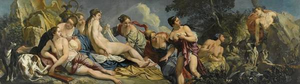 Wall Art - Painting - Diana And The Nymphs Surprised By Actaeon by Giacomo Ceruti