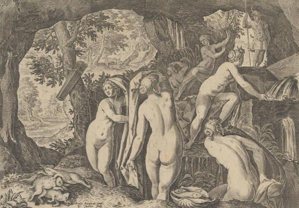 Relief - Diana Surprised By Actaeon by Aegidius Sadeler