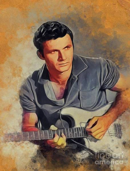Wall Art - Painting - Dick Dale, Music Legend by John Springfield