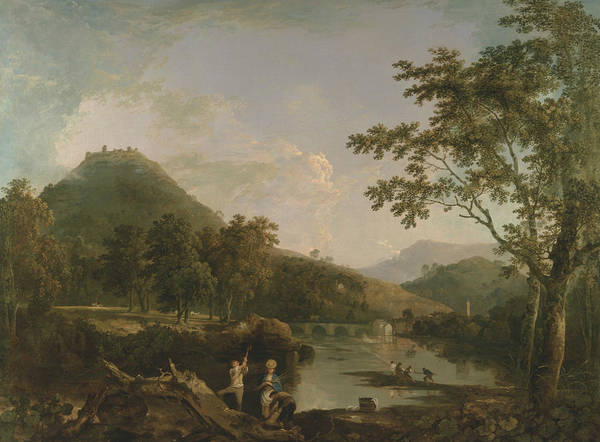 Painting - Dinas Bran From Llangollen by Richard Wilson