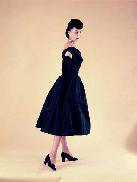 Dress Photograph - Dior In France In The 1950s - by Kammerman