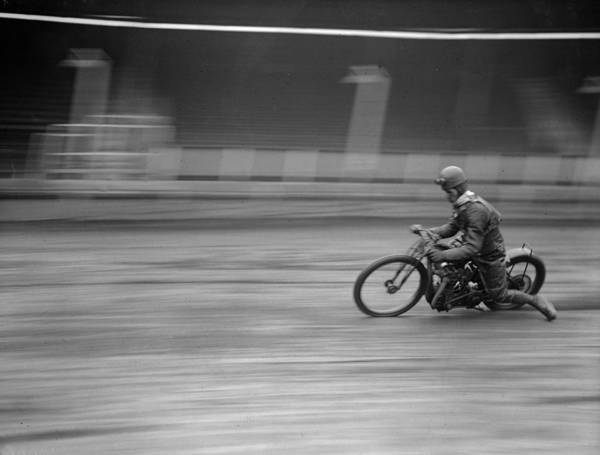 Motorcycle Racing Photograph - Dirt Track Racer by Fox Photos