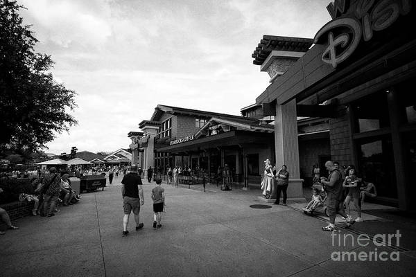 Wall Art - Photograph - disney springs outdoor shopping and dining area orlando florida USA United States of America by Joe Fox