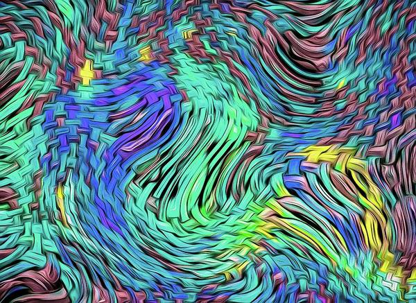 Digital Art - Distortion Chaos Blue by Don Northup