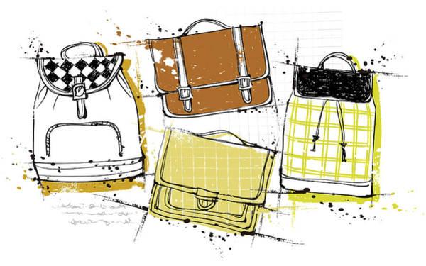 Close Digital Art - Diversity Of Bags by Eastnine Inc.