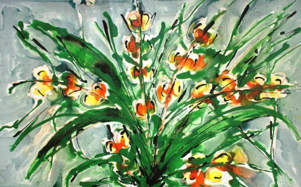 Wall Art - Painting - Divineblooms22181 by Baljit Chadha
