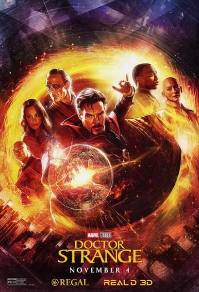 Strange Digital Art - Doctor Strange Movie Poster by Geek N Rock