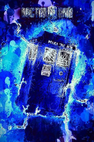 Mixed Media - Doctor Who Tardis by Al Matra