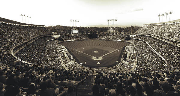 Wall Art - Photograph - Dodger Stadium - Home Of The Los Angeles Dodgers by Mountain Dreams