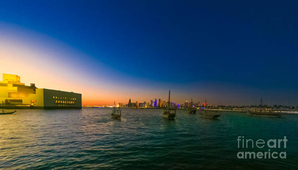 Photograph - Doha Bay Seafront by Benny Marty