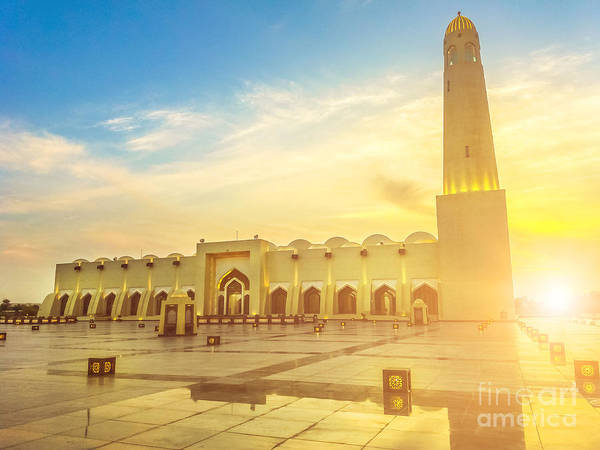 Photograph - Doha Grand Mosque Sunset by Benny Marty