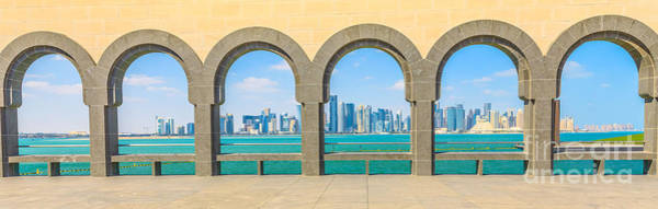 Photograph - Doha West Bay Panorama by Benny Marty