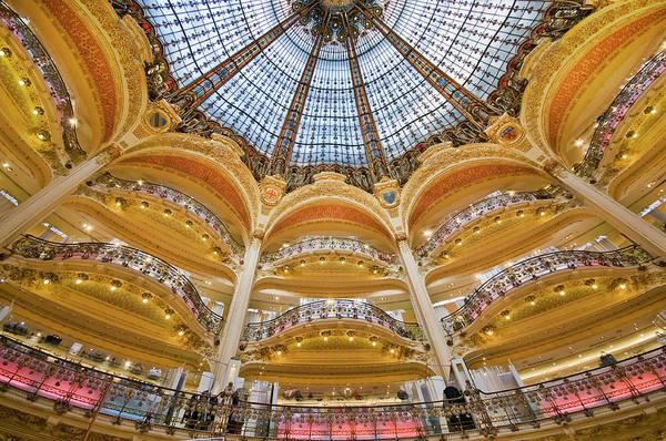 Galeries Lafayette Photograph - Dome And Balconies Of Galeries by Izzet Keribar