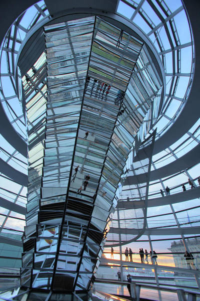 Norman Photograph - Dome Of The Reichstag Building In Berlin by Massimo Pizzotti