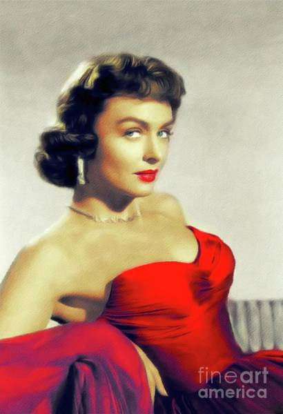 Wall Art - Painting - Donna Reed, Vintage Actress by John Springfield