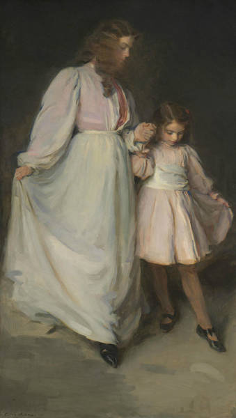 Wall Art - Painting - Dorothea And Francesca by Cecilia Beaux