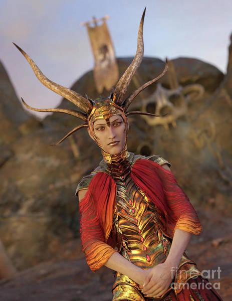 Digital Art - Dragon Empress by Elle Arden Walby
