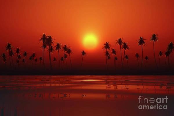 Wall Art - Photograph - Dramatic Orange Sunset by Aleksey Tugolukov
