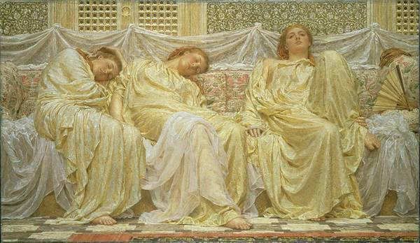 Dreamer Wall Art - Painting - Dreamers by Albert Joseph Moore