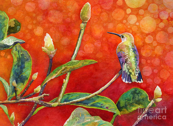 Humming Bird Wall Art - Painting - Dreamy Hummer by Hailey E Herrera