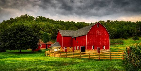 Farmstead Photograph - Dressed In Red For The Evening by Mountain Dreams