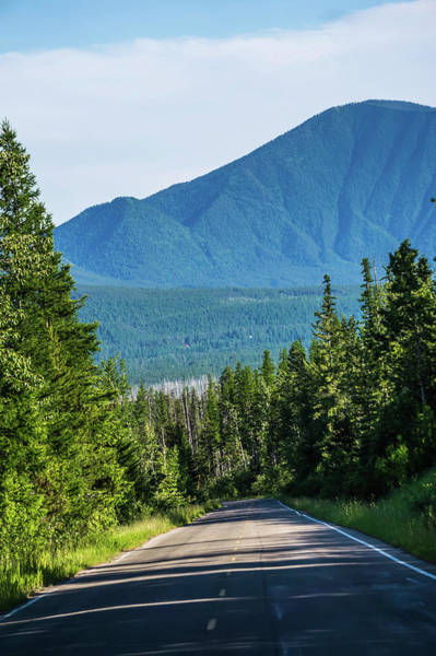 Photograph - Driving Along Lake Mcdonald Roads In Glacier National Park Monta by Alex Grichenko