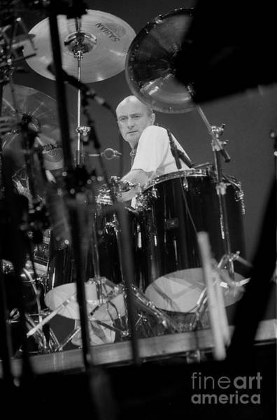 Wall Art - Photograph - Drummer Phil Collins by Concert Photos