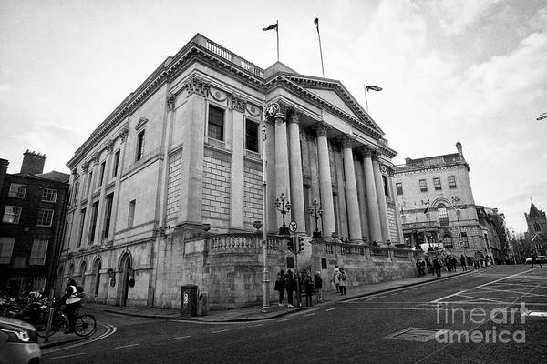Dublin City Hall Originally The Royal Exchange Dublin Republic Of Ireland Europe Art Print by Joe Fox