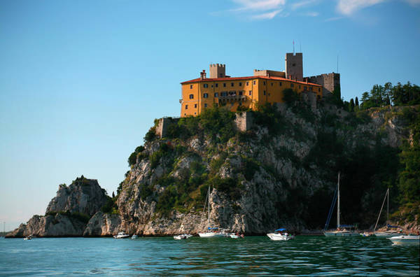 Friuli Photograph - Duino Castle On Cliffs by Max Paoli