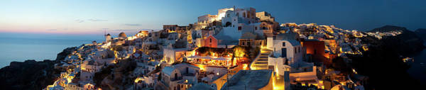 Townscape Photograph - Dusk, Oia Santorini Cyclades Islands by Peter Adams