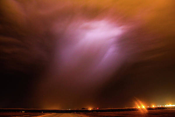 Photograph - Dying Late Night Supercell 016 by NebraskaSC