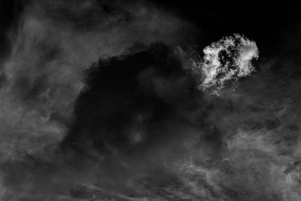 Photograph - Early Evening Clouds And Sky by Robert Ullmann